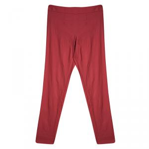 Emporio Armani Red Tapered Trousers S