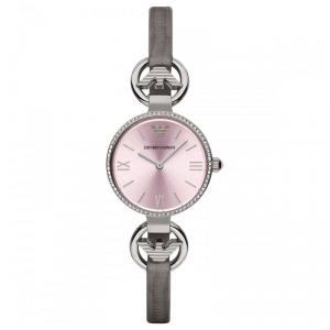 Emporio Armani Pink Stainless Steel Crystal AR1884 Women's Wristwatch 27MM