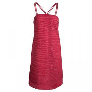Emporio Armani Pink Beadwork Embellished Strappy Dress M