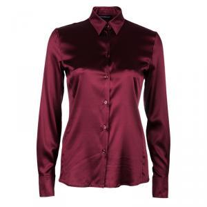 Emporio Armani Red Silk Blouse S