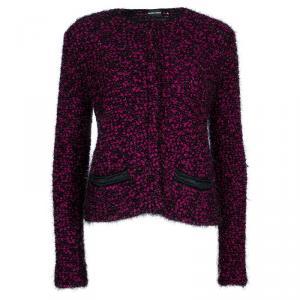 Emporio Armani Pink and Black Cardigan S