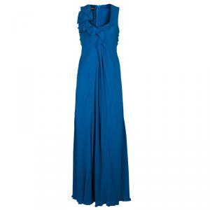 Emporio Armani Blue Chiffon Gown S