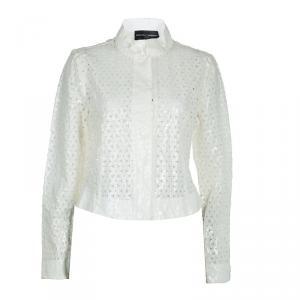 Emporio Armani White Laser Cut Jacket M