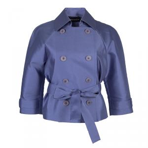 Emporio Armani Lilac Double Breasted Belted Jacket S