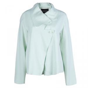Emporio Armani Pale Mint Green Asymmetric Jacket L