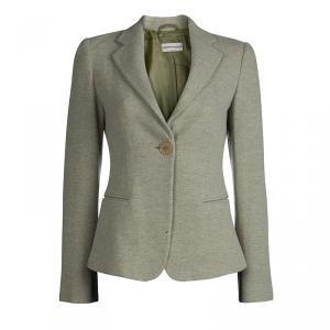 Emporio Armani Light Green Wool Blazer S