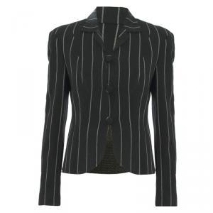 Emporio Armani Monochrome Striped Tailored Jacket S