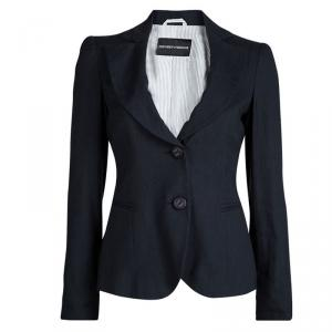 Emporio Armani Navy Blue Notched Collar Blazer S