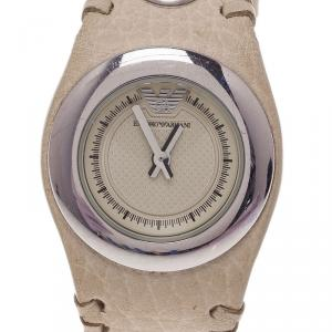 Emporio Armani Creme Stainless Steel AR5595 Women's Wristwatch 30MM