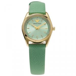 Emporio Armani Turquoise Gold-Plated Stainless Steel AR6034 Women's Wristwatch 26MM