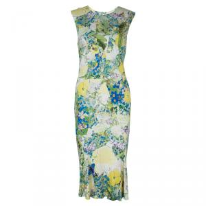 Erdem Multicolor Print Sleeveless Knit Dress L