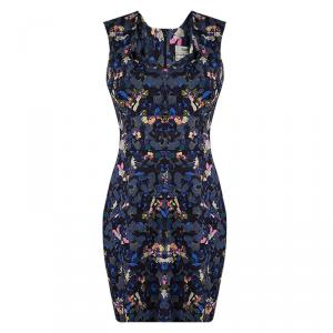 Erdem Multicolor Floral Print Fitted Sleeveless Dress M