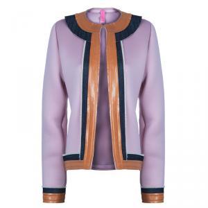 Essa Walla Blush Pink Contrast Trim Neoprene Cardigan M/L
