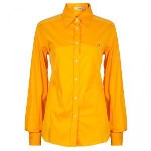 Etro Mustard Cotton Button Down Shirt L