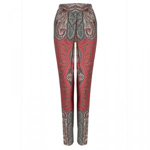 Etro Multicolor Paisley Printed Trousers L