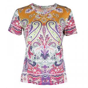 Etro Multicolor Paisley Print Short Sleeve T-Shirt M
