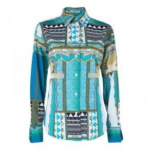 Etro Multi-Printed Cotton Shirt M