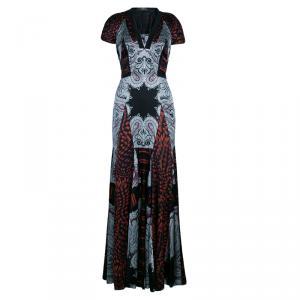 Etro Multicolor Printed Silk Gown M