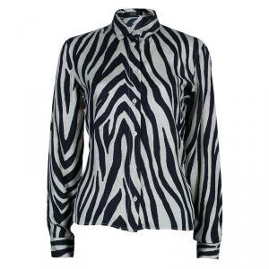 Etro Zebra Print Silk Top M