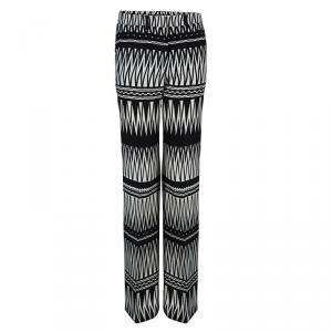 Etro Monochrome Silk Trousers S