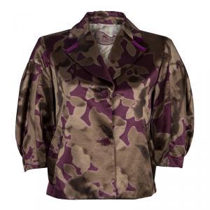 Etro Purple/Bronze Floral Blazer M