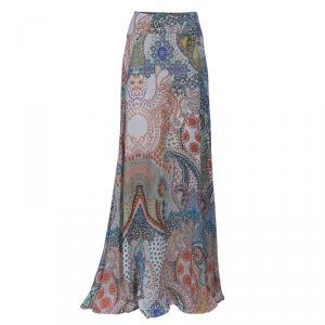 Etro Print Silk Maxi Skirt L
