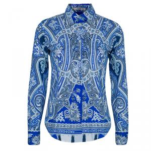 Etro Blue Printed Shirt S