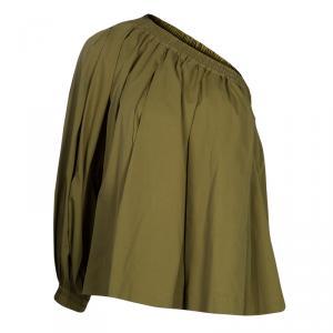 Etro Khaki One Shoulder Top S