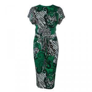 Etro Green Multicolor Print Dress S