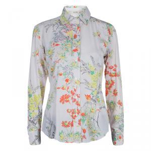 Etro Multicolor Floral Print Long Sleeve Buttondown Shirt M