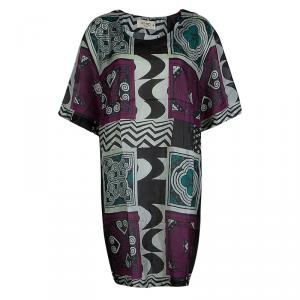 Etro Multicolor Printed Silk Sheer Tunic Dress M