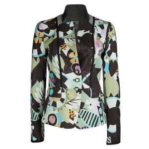 Etro Multicolor Printed Fitted Blazer M