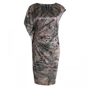 Etro Multicolor Printed Draped Sleeveless Dress S