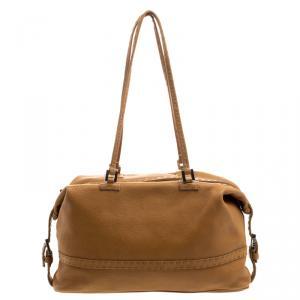 Fendi Brown Selleria  Leather Bauletto Bag