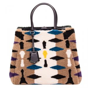 Fendi Multicolor Shearling Large 2Jours Tote