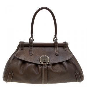 Fendi Brown Leather Medium Magic Satchel