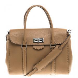 Fendi Brown Leather Satchel