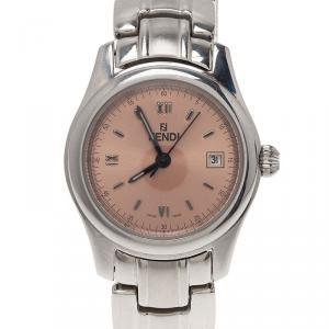 Fendi Pink Stainless Steel 210L Women's Wristwatch 34MM