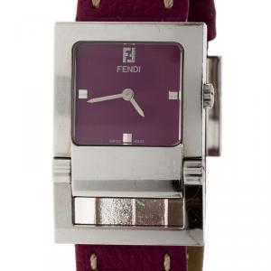 Fendi Pink Stainless Steel Classic Women's Wristwatch 26MM