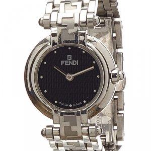 Fendi Black Stainless Steel 750L Women's Wristwatch 25MM