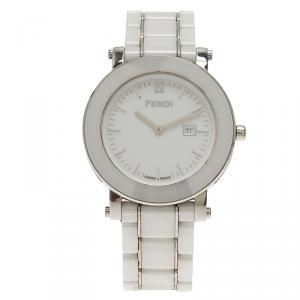 Fendi White Ceramic F642140 Women's Wristwatch 38MM