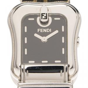 Fendi Brown Stainless Steel B. Fendi Women's Wristwatch 23MM