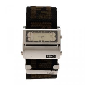 Fendi Cream Stainless Steel Zip Code Women's Wristwatch 40MM