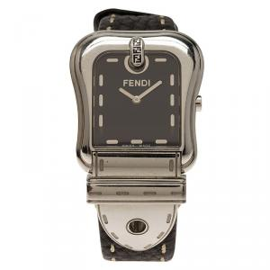 Fendi Black Stainless Steel B. Fendi Women's Wristwatch 32MM
