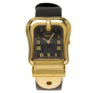 Fendi Black Stainless Steel B. Fendi Women's Wristwatch 32MM