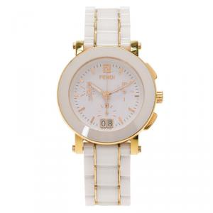Fendi White Ceramic F642140 Women's Wristwatch 38MM