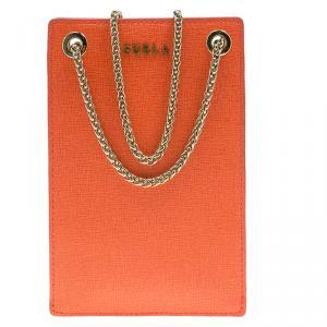 Furla Coral Orange Babylon Phone Bag