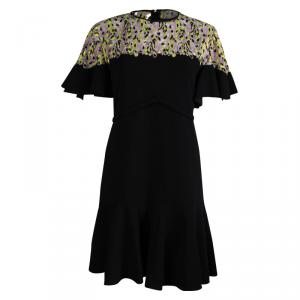 Giambattista Valli Black Embroidered Detail Dress M