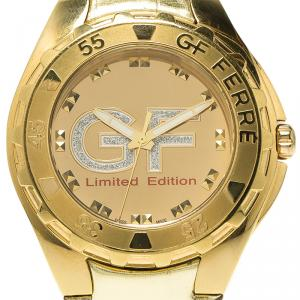Gianfranco Ferre Gold-Plated Stainless Steel 9040J Limited Edition Women's Wristwatch 44MM