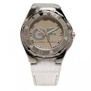 Gianfranco Ferre Silver-Plated Stainless Steel 9040J Limited Edition Women's Wristwatch 44MM